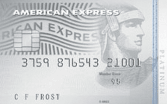 The American Express Platinum Edge Credit Card - Silver coloured with two blue stripes