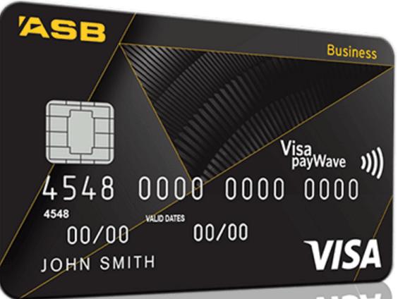 ASB Visa Business Credit Card - Black
