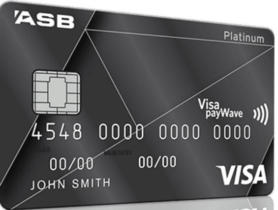 ASB Visa Platinum Rewards Credit Card - Black