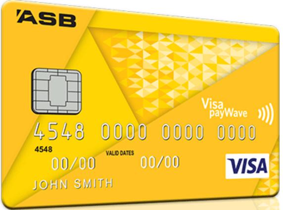 ASB Visa Rewards Credit Card - Yellow