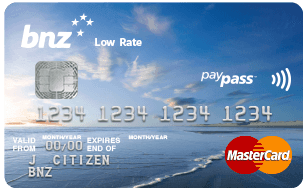 BNZ Low Rate MasterCard Credit Card