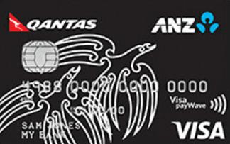 Qantas ANZ Visa Credit Card - Black Coloured