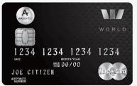 The Westpac Airpoints World MasterCard Credit Card - Black
