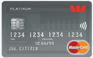The Westpac hotpoints Platinum MasterCard Credit Card