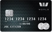 New Zealand Westpac hotpoints World MasterCard Credit Card - Black